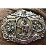 Vintage 1985 Bergamot Brass Works I-180 'Championship Wrestling' Belt Bu... - $44.99