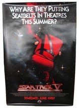 1989 STAR TREK V Original Advance Movie POSTER 27x40 Vintage 1-Sided Rol... - $34.99