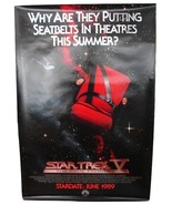 1989 STAR TREK V Original Advance Movie POSTER 27x40 Vintage 1-Sided Rol... - $34.99
