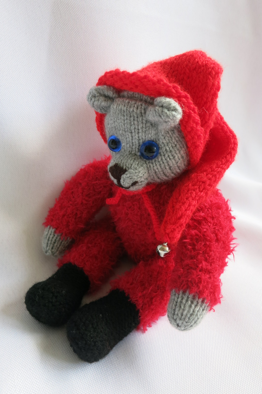 Christmas Teddy Bear - handmade stuffed toy - Christmas gift - nursery decor