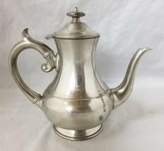 "Vintage Woodbury Pewter Teapot 8.5""x9"" Made in USA Tea Pot Coffee Hinged... - $19.34"
