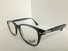 New Persol 3163-V 1012 52mm Rx Polished Blue Brown Eyeglasses Frame  Italy - $129.99
