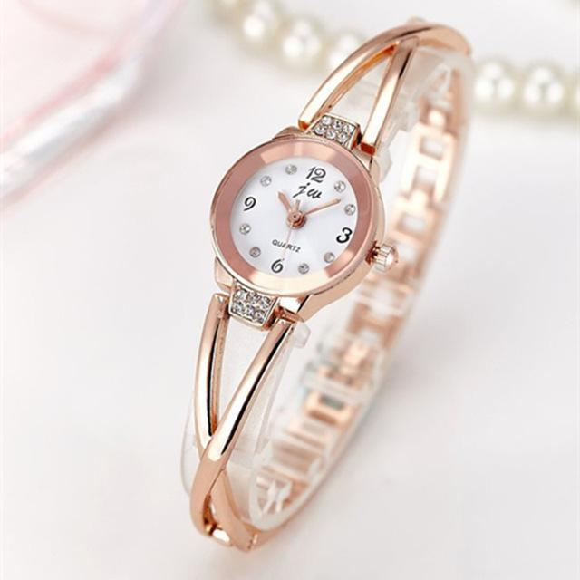 New Fashion Rhinestone Watches Women Luxury Brand Stainless Steel Bracelet watch image 7