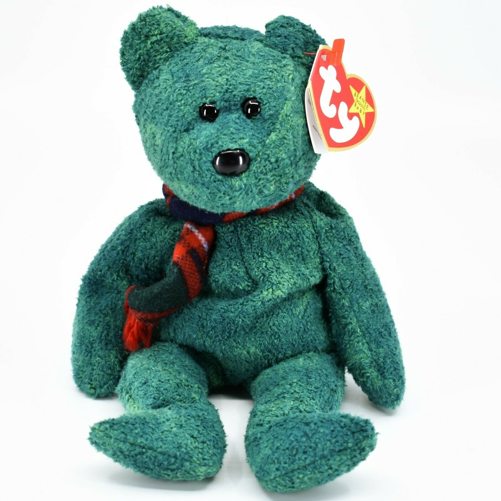 1999 Ty Beanie Baby Original Wallace the Bear Retired Beanbag Plush Toy Doll