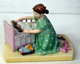 """5"""" Vtg Norman Rockwell 1980 Porcelain Statue Little Mother Baby Girls Love - $18.99"""