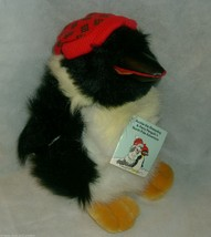 "12"" VINTAGE 1990 CHRISTMAS COMMONWEALTH PERRY PENGUIN STUFFED ANIMAL PLU... - $17.77"