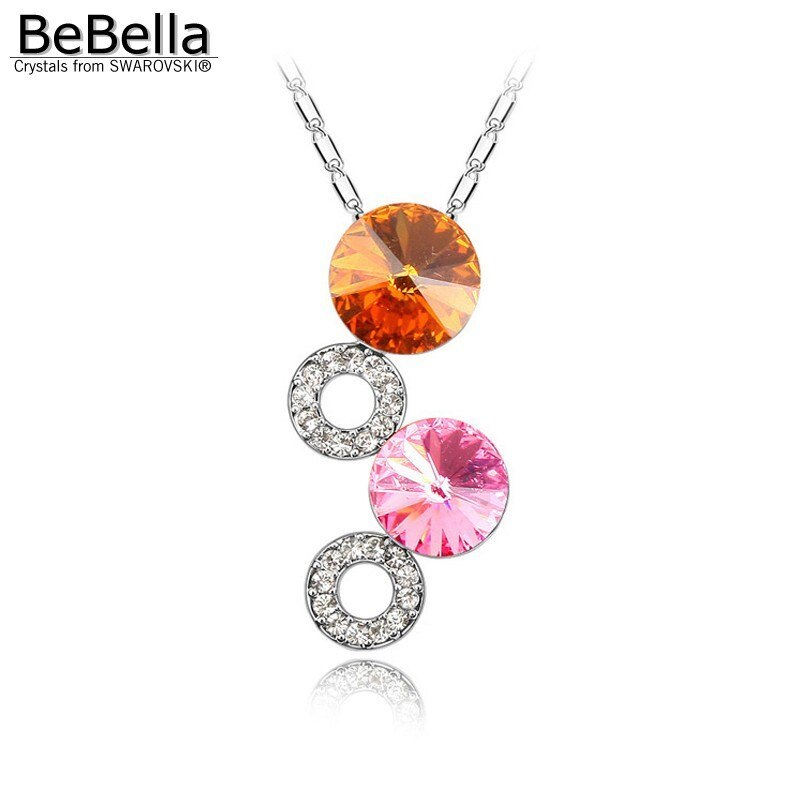 BeBella fantasy bubble pendant necklace Made with Crystals from Swarovski for wo image 3