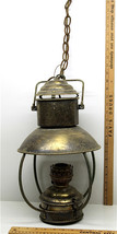 Antique Early1900s Kosmos Brenner Oil Converted To Electric Ceiling Hang... - $89.75