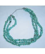 Vintage Southwestern 3 Strand Turquoise Bead Necklace Jewelry  - $49.99
