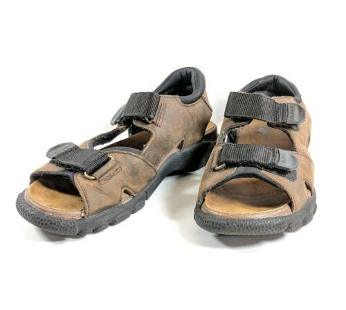 Earth Shoe Sports Sandals RockTrail 2 Womens Sz 9 M Brown Leather  (tu29ep)