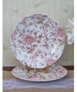 Johnson Bros Rose Chintz Dinner Plates Set of 2, English China Dishes Pi... - $78.00