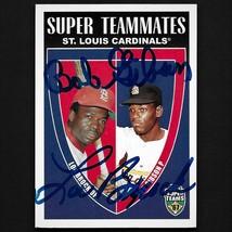 Bob Gibson/Lou Brock autograph signed 2002 Topps card Cardinals  - $79.99
