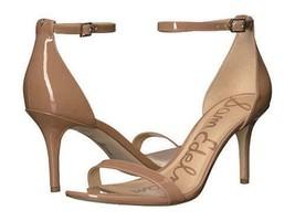 SAM EDELMAN Patti Camel Patent Leather Minimalist Sandals 9.5 women - $33.68