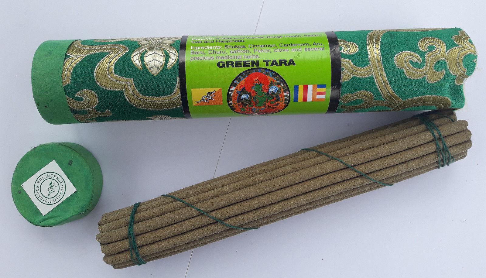 White Tara Tribute Brocade Tibetan  Ancient Incense Sticks