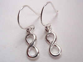 Very Small Infinity Symbol Earrings 925 Sterling Silver Corona Sun Jewelry - $11.87