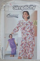 UNCUT Vintage Simplicity Pattern Dress 7550 14 SEWING - $4.84