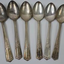 Set of 6 Wallace LENOX Pattern Oval Dinner Spoons Silverplate 7 1/8 In F... - $19.99