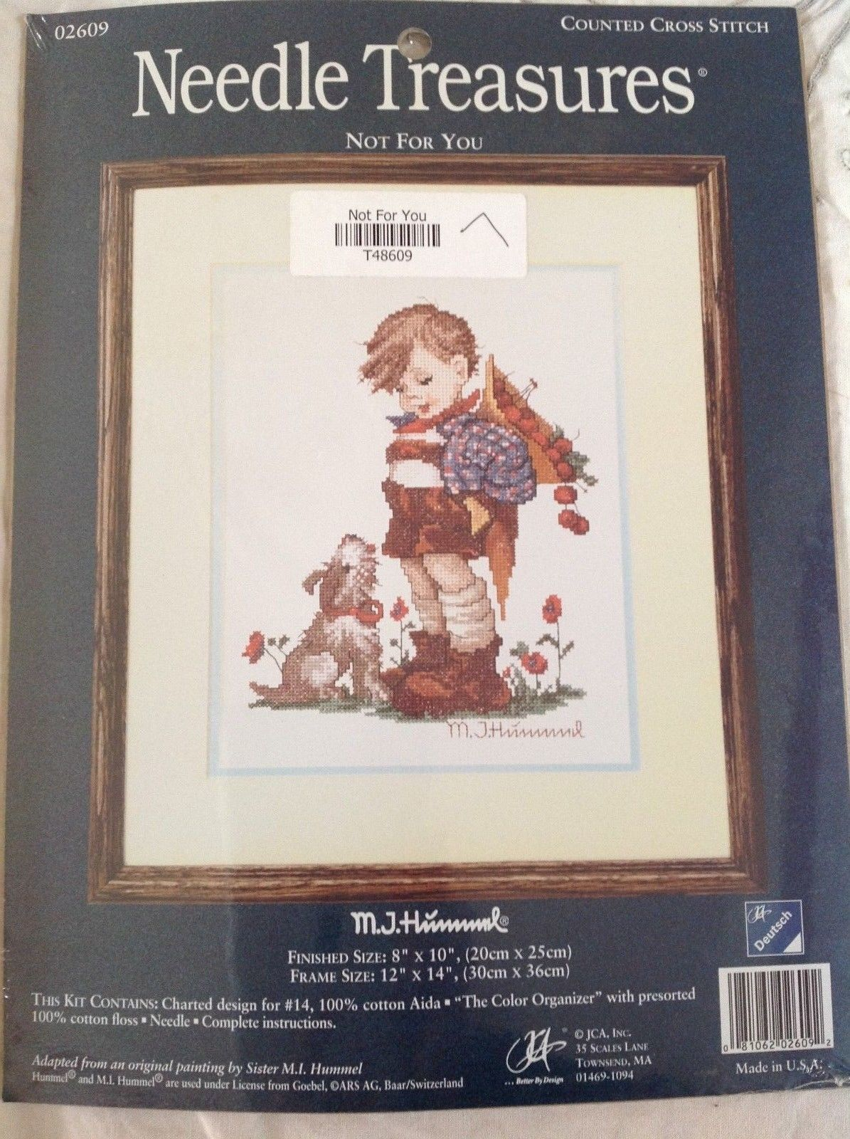 "Primary image for Needle Treasures Counted Cross Stitch M.I Hummel ""Not For You"" Kit  8""X10"""