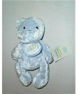 CARTER'S BOYS BLUE TEDDY BEAR BIB BABY HAPPY SMILEY FRIENDS LOVEY TOY PL... - $29.69