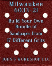 Build Your Own Bundle Milwaukee 6033-21 1/4 Sheet No-Slip Sandpaper - 17 Grits! - $0.99