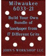 Build Your Own Bundle Milwaukee 6033-21 1/4 Sheet No-Slip Sandpaper - 17... - $0.99