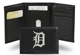 Detroit Tigers Wallet Trifold Leather Embroidered**Free Shipping** - $35.90