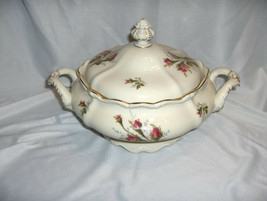 "Vintage Rosenthal China Pompadour Selb Germany 9"" Covered Veggie Bowl NICE - $64.35"