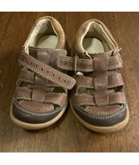 Clark's Toddler Buckle Brow Leather Sandal Boys Size 7 Lightly Worn EUC - $15.83