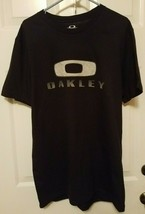 Oakley Mens Stitched Design Shirt Size Large Short Sleeve Black - $12.61