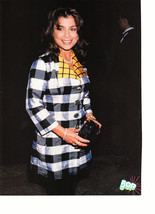 Paula Abdul Running the Halls teen magazine pinup clipping holding a black purse