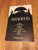 Original AMADEUS Window Card Broadway Poster from Alice Faye's Estate 14x22 - $41.65