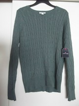 St. John's Bay Womens Size L(Large) Cable Knit Long Sleeve Pullover Swea... - $14.96