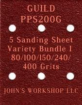 GUILD PPS200G - 80/100/150/240/400 Grits - 5 Sandpaper Variety Bundle I - $7.53