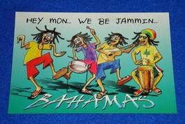 **BRAND NEW** PHENOMENAL HEY MON WE BE JAMMIN BAHAMAS POSTCARD REGGAE MUSIC - $4.99