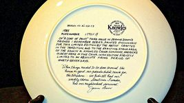 """1984 """"A Coat of Paint"""" by Jeanne Down Plate with Box ( Knowles ) AA20-CP2192 Vin image 4"""