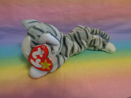 Vintage 1997 Ty Beanie Baby Prance the Gray Tabby Cat with Tags - $3.91