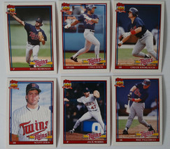 1991 Topps Traded Minnesota Twins Team Set of 6 Baseball Cards - $4.00
