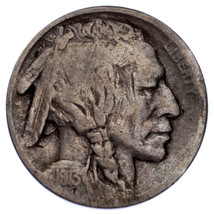 1913-D 5C Buffalo Nickel in VG Condition, Natural Color, Nice 4 Digit Date - $148.49