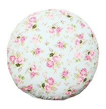 Floor Pillow - 15.7 inch Round - Rose Pattern - Cotton Thicken + Lovely Cloth - $29.91