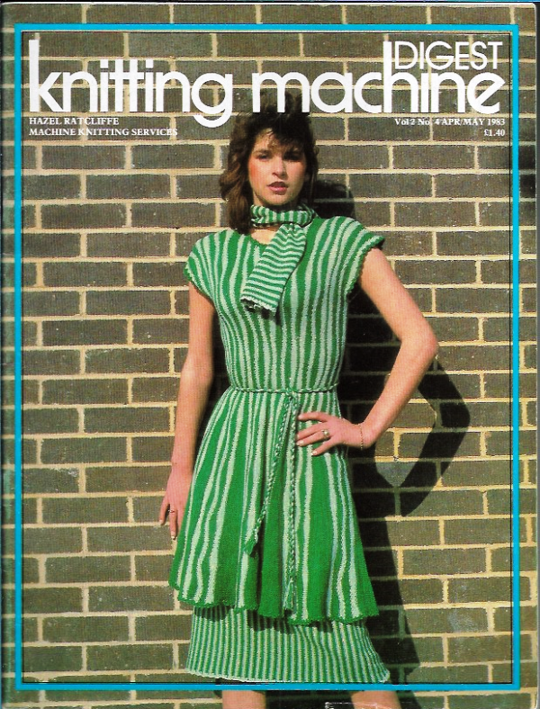 Primary image for Knitting Machine Digest Apr May 1983 Magazine UK Vintage Knit Designs Patterns