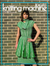 Knitting Machine Digest Apr May 1983 Magazine UK Vintage Knit Designs Pa... - $5.69