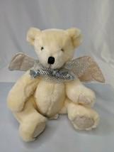 "Angel Bear Cream Plush Wings 8"" Mty International Stuffed Animal Toy - $14.95"