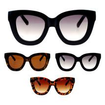 Womens Trendy Extra Thick Retro Plastic Frame Horn Rim Nerdy Geek Sungla... - $12.98 CAD+
