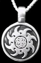 NICE Celtic Sterling Silver 925 pendant charm Sun Irish Knot - $57.57