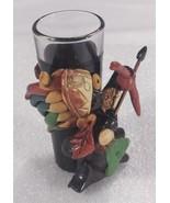 Mexico 3 OZ 3D Huntsman Shooting Arrow Colorful Head Dress Stones Leaf - $19.39