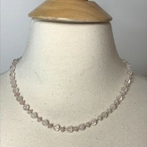 "Monet Clear Glass Bead Necklace Approximately 20"" - $24.75"