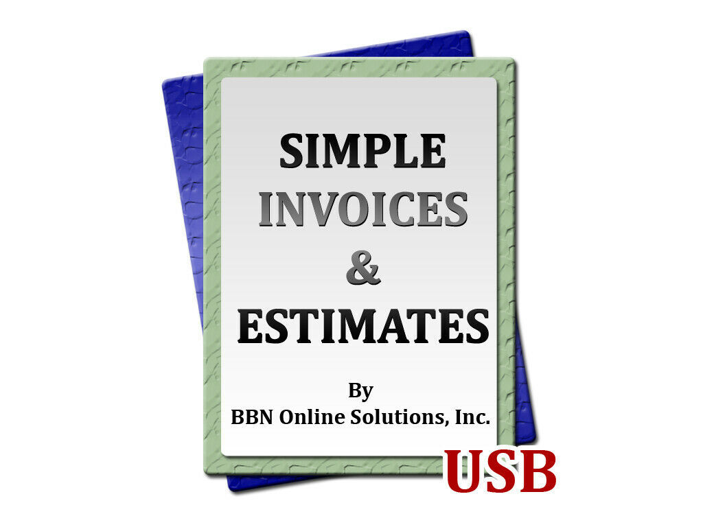 Primary image for Easy to Use Simple Invoices and Estimates Software for Windows Computers PC USB