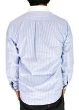 NEW DOCKERS MEN'S LONG SLEEVE BUTTON UP SHIRT LIGHT BLUE STRIPES SIZE SMALL image 4