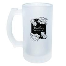 Bridesmaid Custom Frosted Beer Glass Mug - $25.25