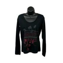 Diesel ladies long sleeves top with red logo - $28.07